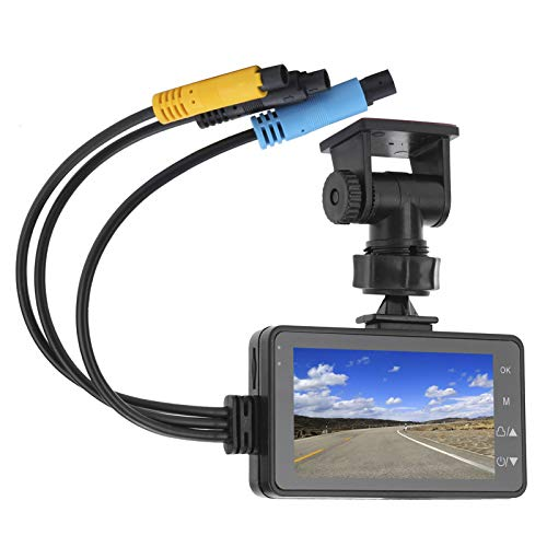 Grabador de conducción de 1080p de Alta definición con cámaras Delanteras y traseras duales DVR universales para Motos