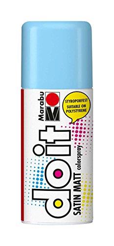 Marabu 21070006256 - Do it Satin Matt pastell blau, Colorspray auf Acrylbasis, styroporfest, schnell trocknend, sehr gute Deckkraft, wetterfest, für große und kleine Bastelarbeiten, 150 ml Sprühdose