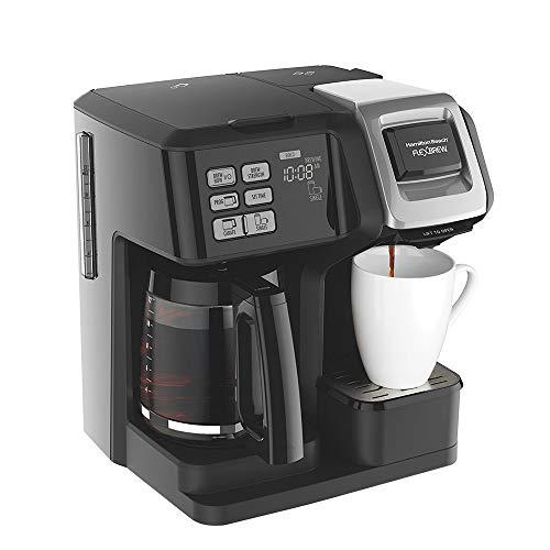 Hamilton Beach 49976 FlexBrew 2-Way Brewer Programmable Coffee Maker Black - (Certified Refurbished)