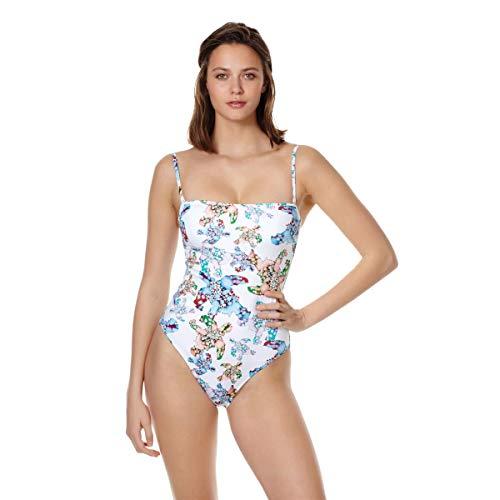 Vilebrequin - Women - One Piece Swimsuit Bustier Watercolor Turtles - White - XS