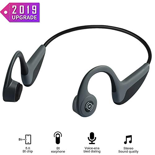 Bone Conduction Headphones - Wireless Earbuds Bluetooth 5.0 Upgraded IP56 Waterproof Sports...