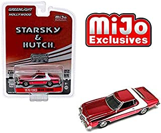 New DIECAST Toys CAR Greenlight 1:64 Hollywood - Starsky & Hutch - 1976 Ford Gran Torino (RED Chrome) 51224