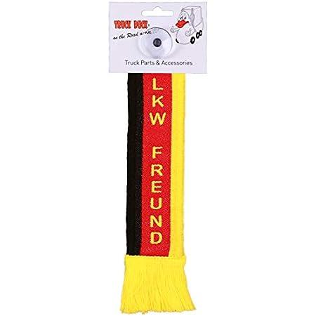 Truck Duck Lkw Auto Minischal Lkw Freund Deutschland Trucker Mini Schal Wimpel Flagge Fahne Saugnapf Spiegel Deko Auto