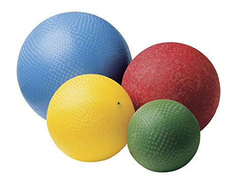 Sportime Rubber Playground Ball Set, Assorted Size, Assorted Color, Set of 4