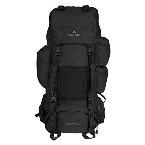 TETON Sports Explorer 4000 Internal Frame Backpack: High-Performance Backpack for Backpacking, Hiking, Camping