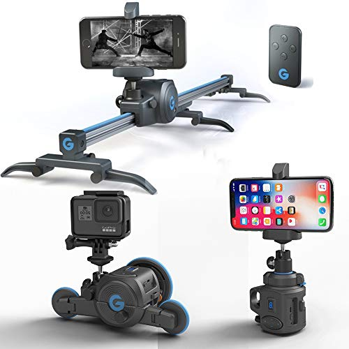 Grip Gear The Directors Set. Pocket Sized Camera Motion Control kit , Electronic Camera Slider + Micro Camera Dolly+ Pano Mount.. Ideal for All Action, Smartphones , Mirrorless Cameras.