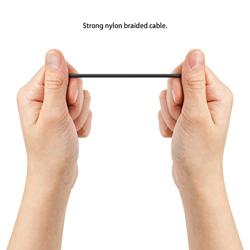 deleyCON 15cm USB-C Kabel - Ladekabel Datenkabel mit Nylon + Metallstecker - USB C auf USB A - Kompatibel mit S20 S10 S9 S8 Serie Note 8 Note 9 Chromebook uvw. Modelle mit C-Buchse - Schwarz