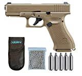 Outletdelocio.. Pistola perdigon Umarex Glock 19X Co2 4,5mm. Blowback. + Funda Portabombonas + Balines + Bombonas co2. 23054/29318/13275