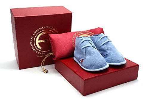 ANNA MARIA MILANO ANNA MARIA MILANO Nuvoletta Azzurra - scarpine Neonato - Taglia 18 - Colore Azzurro