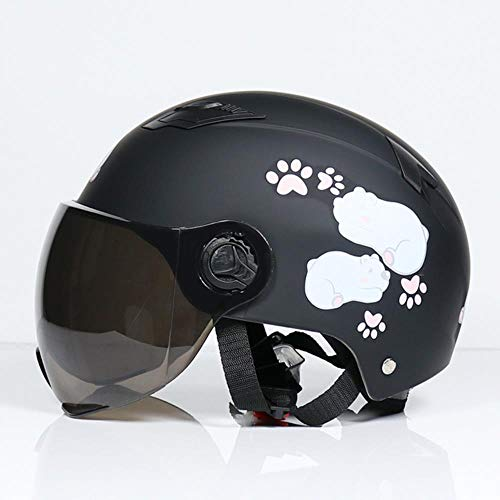 Ksde Motorradhelm, Scooter, Fahrrad, offenes Gesicht, halbe Baseballkappe, Anti-UV-Sicherheitshut, Motocrosshelm, 3