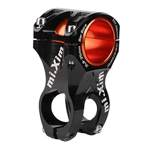 Fahrrad-Lenkervorbau, rostfreie Fahrradvorbauklemme mit Adapterring für Durchmesser 35 mm/31,8 mm (schwarz)