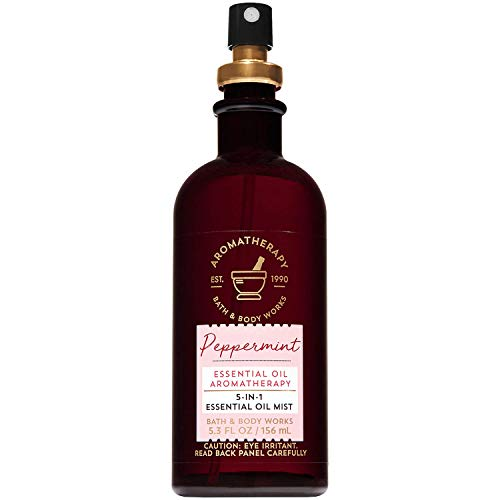 Bath and Body Works Aromatherapy Peppermint 5-in-1 Essential Oil Mist...