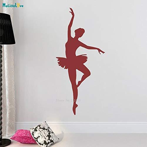 ASFGA Einzigartige Cartoon Ballett tanzen Wandtattoo Silhouette Home Decoration Tanz Mädchen Zimmer Klassenzimmer Aufkleber Kinder Geschenke 13x28cm