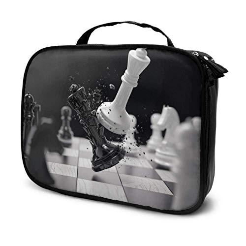 Tablero de ajedrez con Piezas de ajedrez en Negro Estuches de Maquillaje...