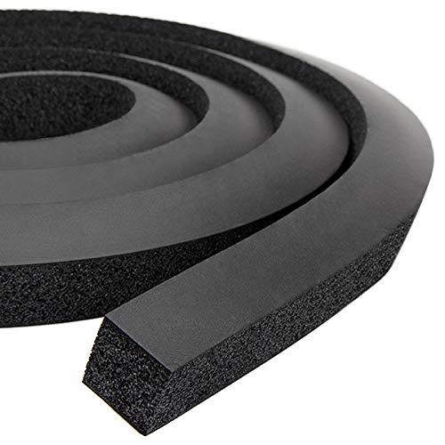 Fenster-Klimaanlagen-Schaumstoff-Isolierstreifen, kein Kleber, dicker Schaumstoff, Wetterdichtungsband mit hoher Widerstandsfähigkeit (2,5 x 2,5 cm, schwarz)