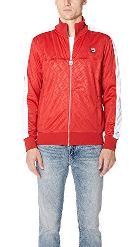 Fila Men's Palmer Track Jacket, Red/White, XX-Large