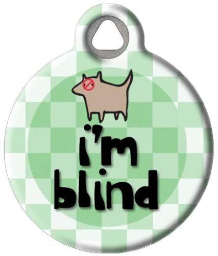 Dog Tag Art Custom Pet ID Tag for Dogs - I'm Blind - Large - 1.25 inch