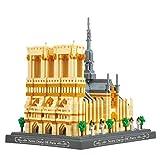 kyman Micro Bloques Notre Dame Cathedral Edificio Set Nano Mini Building Blocks Kits Niño Construcción Educativa DIY Toy Regalos (Size : 4018PCS)
