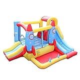 Castillo hinchable Decoración De Cohetes Cama Inflable For Niños Inflables Juegos De Despedida (Color : Blue, Size : 340 * 280 * 185cm)