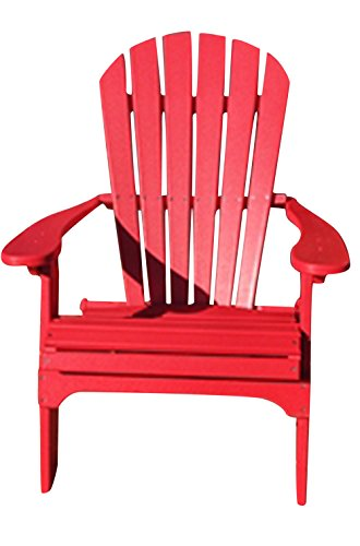 Phat Tommy Recycled Poly Resin Folding Adirondack Chair – Durable and Eco-Friendly Patio Furniture...