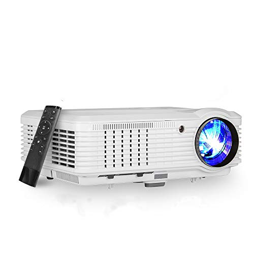 """HD 4600 Lumen LCD Video Projector HDMI 1080P Support Max 200"""" Multimedia Home Theater Projector Built-in Speaker for Gaming Outside Movies LED TV Proyector Compatible with DVD Laptop PS4/3 TV Stick PC"""