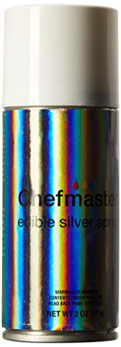 Chefmaster Edible Spray, One 2-Ounce Can. Kosher Certified - Silver