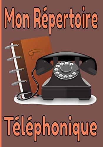 Mon Répertoire Téléphonique: Carnet Grand Format pour Adresses et Numéros de Téléphone.