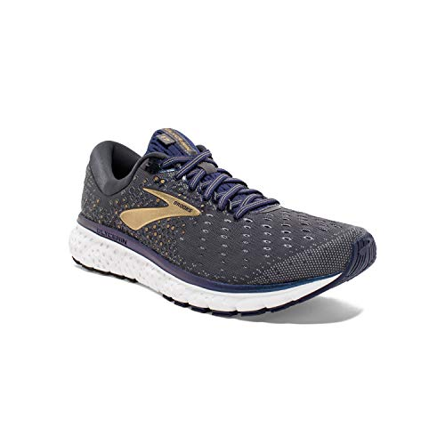 Brooks Mens Glycerin 17 Running Shoe - Grey/Navy/Gold - D - 9.5