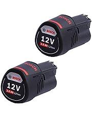 Bosch 1600A00X7D lithium-ion Li-ion-accu, 3000 mAh, 12 V, oplaadbare accu, 3000 mAh, lithium-ion li-ion-accu, 12 V, zwart