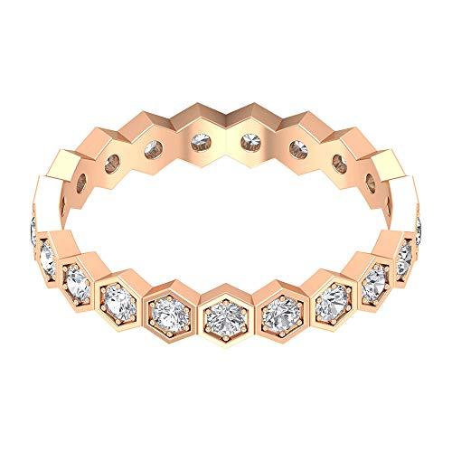 Rosec Jewels - 14 Kt Rotgold Rund Leicht Getöntes Weiß/Top Crystal (I) Diamant