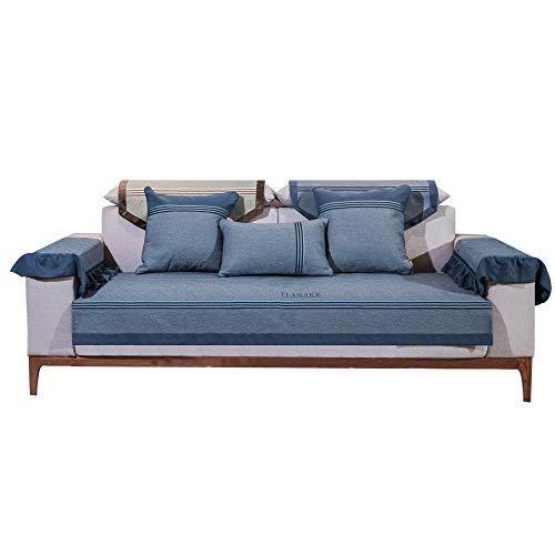 KIKIGO Funda de sofá chaiselongue,Chaise Lounge,Fundas Sofa Chaise Longue,Funda Sofa Chaise Longue Brazo Chaise Derecho/Izquierdo_Blue_47.24_70.86in(Solo 1 Pieza/no Todos los Juegos)