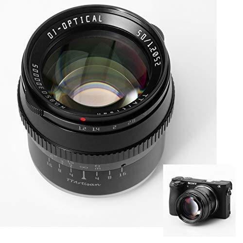 TTArtisan 50mm F1.2-Objektiv APS-C MF Kompatibel mit Panasonic Olympus-Kameras mit Makromontage M4 3 EPM EPL1-9 E-P1 E-P2 E-P3 E-P5 E-P6 E-M1 E-M5 E-M10 E-M101 E-M10III PEN-F