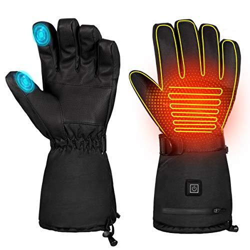 BESPORTBLE Ein Paar Winterbeheizte Handschuhe 3 Stufen Handwärmer Touchscreen Thermohandschuhe zum Radfahren Skifahren Jagd Männer Frauen (Größe Xl)