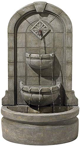 John Timberland Essex Spigot English Outdoor Wall Water Fountain 41 1/2' High Three Tier for Yard Garden Patio Deck Home Hallway