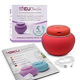 Sileu Clean Plus - Esterilizador Eléctrico Recargable USB Compacto para Copas Menstruales - Lámpara de Cuarzo UV y Ozono - Rojo