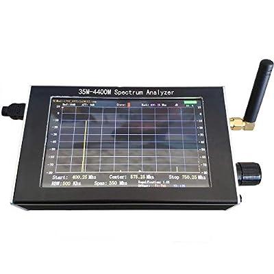 BDSEALY 35m-4400m Handheld Simple Spectrum Analyzer Measurement of Interphone Signal,4.3 Screen Handheld Spectrum Analyzer