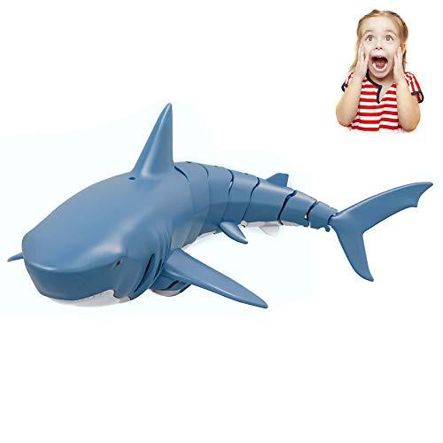 Himoto HSP RC ferngesteuertes Hai-Fisch Boot für Einsteiger und Fortgeschrittene, Shark-Modell inkl. 2.4 Ghz Fernsteuerung, Akku und Ladekabel, ideal für lustige Pranks, Komplett-Set