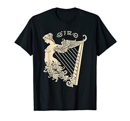 Eire Gaelic Celtic Irish Harp Ireland St. Patricks Day Gift T-Shirt