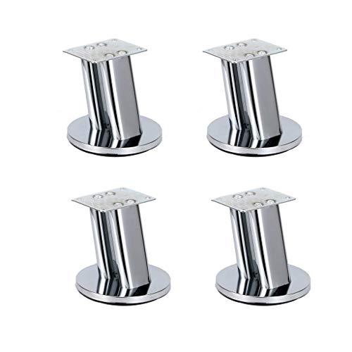 WCY Tilt Metallfuß Möbel/Fuss-Fuss-Couchtisch Sofa, Füße TV Schrank, Füße Füße Sofas, Füße Schrank - Bügeleisen - Hohe 95MM-4 Stück yqaae (Color : Silver)