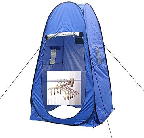 Tenda per Spogliatoio Portatile All'aperto Band impermeabile portatile e appendini pieghevoli, armadio per doccia da campeggio all'aperto Beach Visor Beach Privacy Escursioni ( Color : Blue )