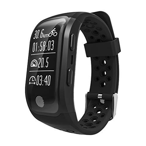 HHJEKLL Intelligentes Armband Activity Tracker Pulsometer Uhr Fitness Schrittzähler PulsmesserIP68 Smart Armband, schwarz