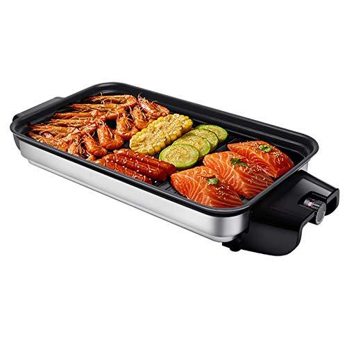 Kitchen supplies Multifunktionaler Innengrill , Antihaft-rauchfreier, leicht zu reinigender stufenloser Temperaturregler Innengrill , Mit abnehmbarem elektrischem Searing-Grill aus Aluminiumlegierung