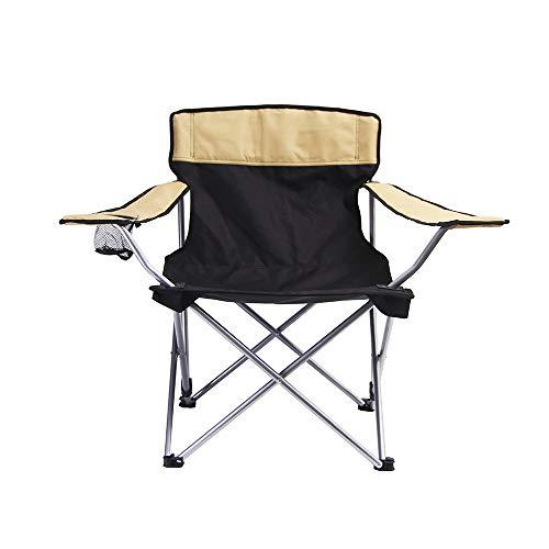 MDSD Outdoor Einfache Rückenlehne Klapp Strandkorb Freizeit Strandkorb Einzel Rückenlehne Sessel Kompakt Klappbar, Camping-Stühlecampingstuhl FaltbarCampingstuhl Faltbar