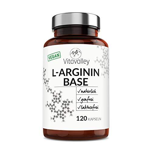L-Arginin Base Kapseln aus Fermentation - im umweltfreundlichen Glasbehälter - 100% vegan - reine L-Arginin Base & ohne Zusätze - gentechnikfrei - hergestellt in Deutschland