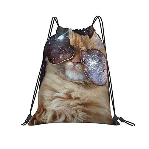 Bolsa de hombro con cordón para gato, mochila ligera para viajar