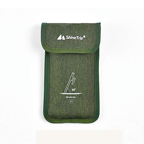 HBDY Camping sitio clavo almacenamiento bolsa pequeños accesorios bolsa de almacenamiento tela Oxford material tienda al aire libre camping uso (30cm)