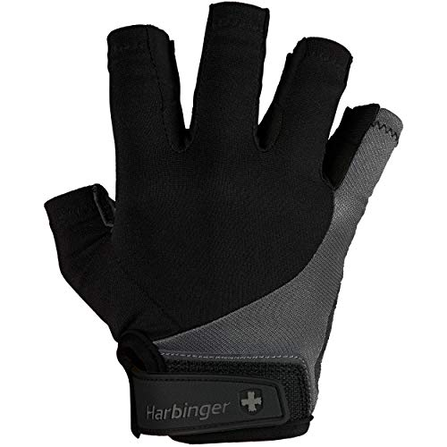 Harbinger Men's BioFlex Elite Weightlifting Gloves with Padded Leather Palm (1 Pair), Large (Fits 8-8.5 inches)