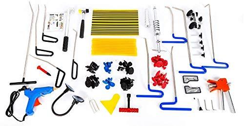 Kit de reparación de abolladuras pintadas para carrocería, 103 unidades, para reparación de abolladuras en coche, frigorífico, carrocería de moto