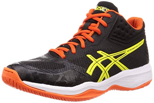 ASICS Gel Netburner Ballistic FF Mid 1051A003-003 Volleyball Shoes Men (003 - Black/Yellow, Numeric_13)