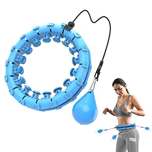 Bravekoi Hula Reifen, Hullahub Reifen Fitness Hoop mit Massagenoppen, Einstellbar und Abnehmbar, Kann Zur Massage und Gewichtsabnahme Verwendet, für Anfänger, Kinder und Erwachsene (Blau)